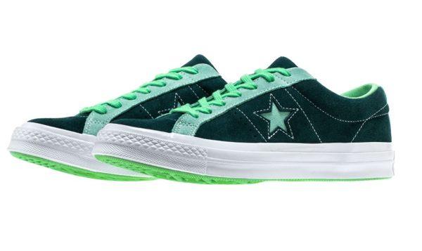 CONVERSE 滑板休閒鞋 中性鞋 綠薄荷色 ONE STAR系列NO.161614C