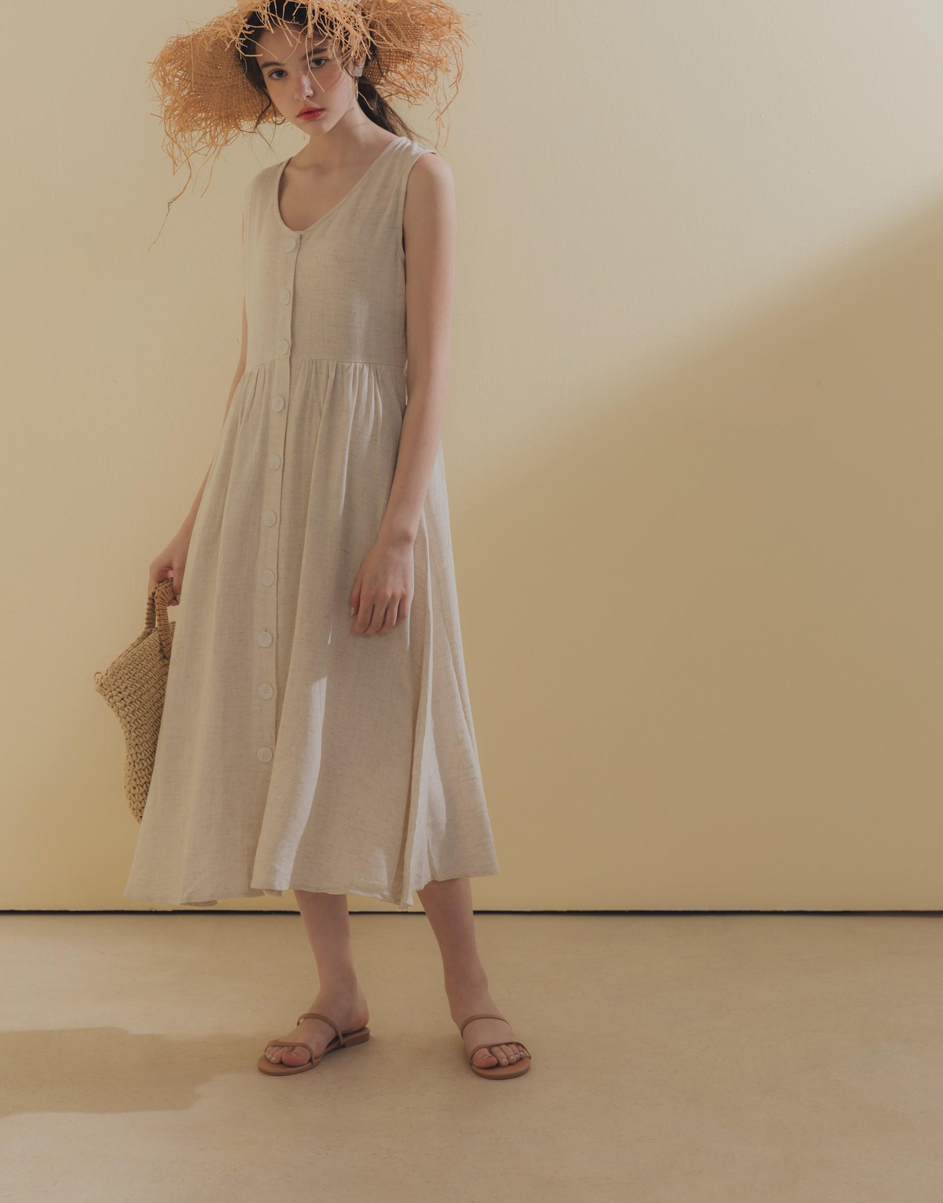 舒適棉麻面料/前排釦可開釦/淺色微透建議著淺色內搭