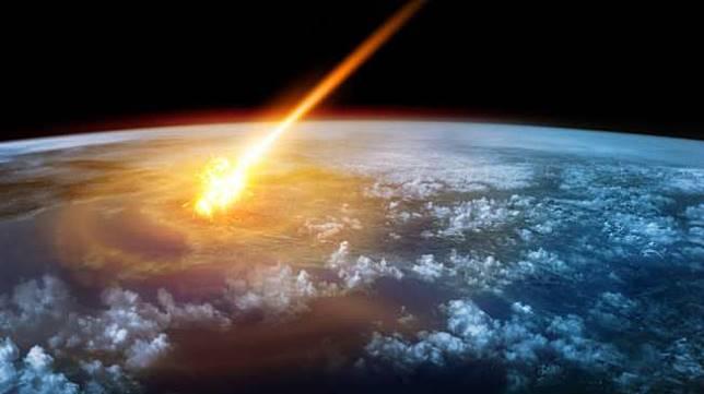 Ilustrasi asteroid tabrak bumi. (Shutterstock)