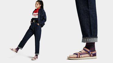 起點日著 / TEVA一週鞋襪穿搭 — 亮眼的緹花織帶涼鞋,讓冬季街頭不再沉悶