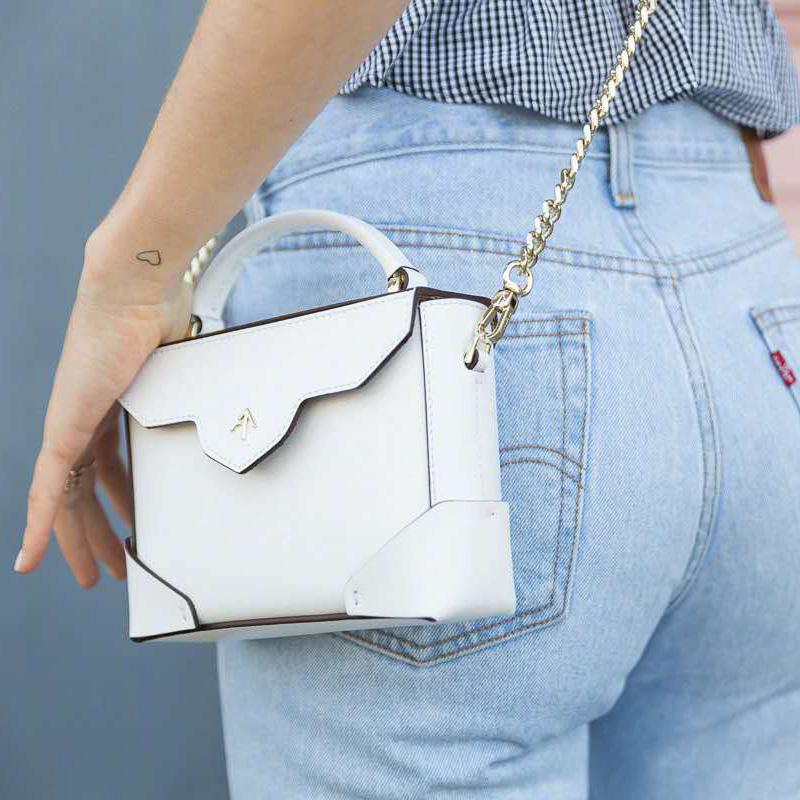 manu atelier micro bold小方包箭頭真皮手提包單肩斜挎時尚女包