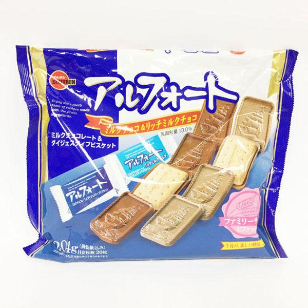 【KP】日本 BOURBON 牛奶巧克力 帆船餅乾 4901360307593