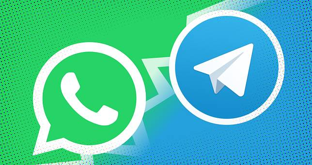 Ilustrasi WhatsApp VS Telegram