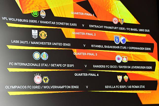 ผลจับสลากประกบคู่ รอบ 8 ทีมสุดท้าย ยูโรป้า 2019/20
