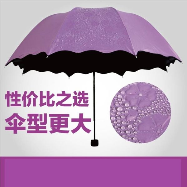折疊雨傘日本櫻花傘遇水開花晴雨兩用變色雨傘防紫外線折疊女太陽傘黑膠 color shop