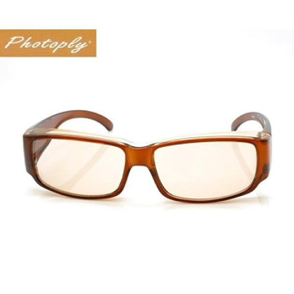 【南紡購物中心】PHOTOPLY 802電腦抗藍光褐色鏡框眼鏡