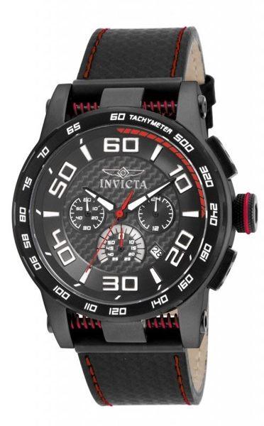 INVICTA賽車系列-低調都會三眼計時腕錶