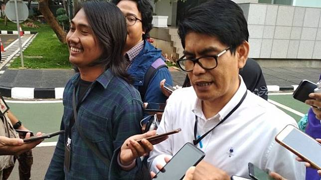 VP Corporate Secretary Garuda Indonesia M Ikhsan Rosan. (Suara.com/Fadil)