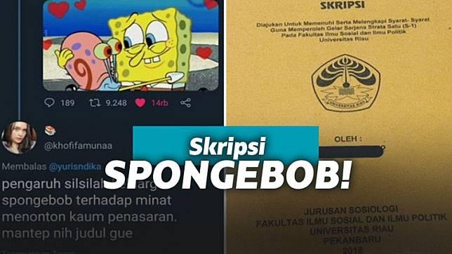 Kisah Wanita 'Membuat' Skripsi tentang Spongebob