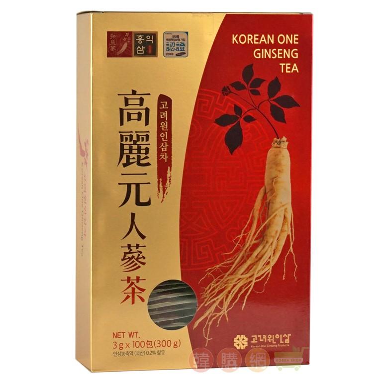 韓國高麗元人蔘茶 300g(3gX100)★細緻顆粒容易溶解【韓購網】
