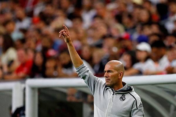 Pelatih Real Madrid Zinedine Zidane