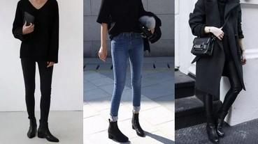 酷妹指標!教你四種絕不出錯黑短靴穿搭