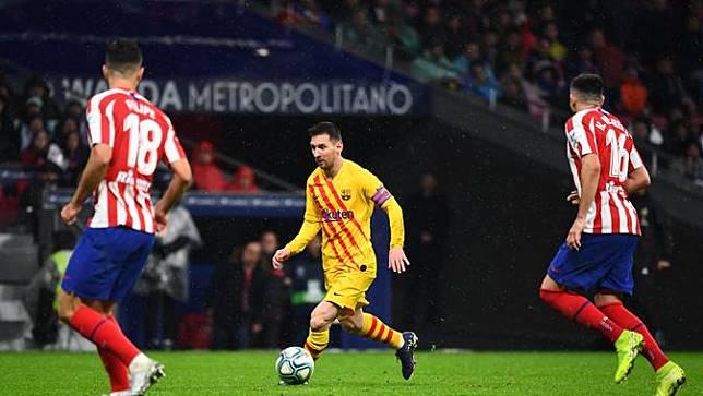 Sihir Messi Antar Barcelona Bungkam Atletico Madrid