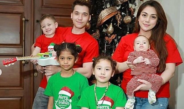Celine Evangelista bersama keluarga. (Foto: Instagram)