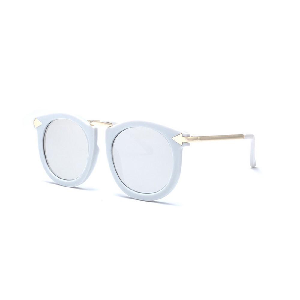 墨鏡 附眼鏡盒+眼鏡布 獨家訂製款復古大框金屬箭頭69604珊瑚粉彩膜墨鏡標檢局D74321