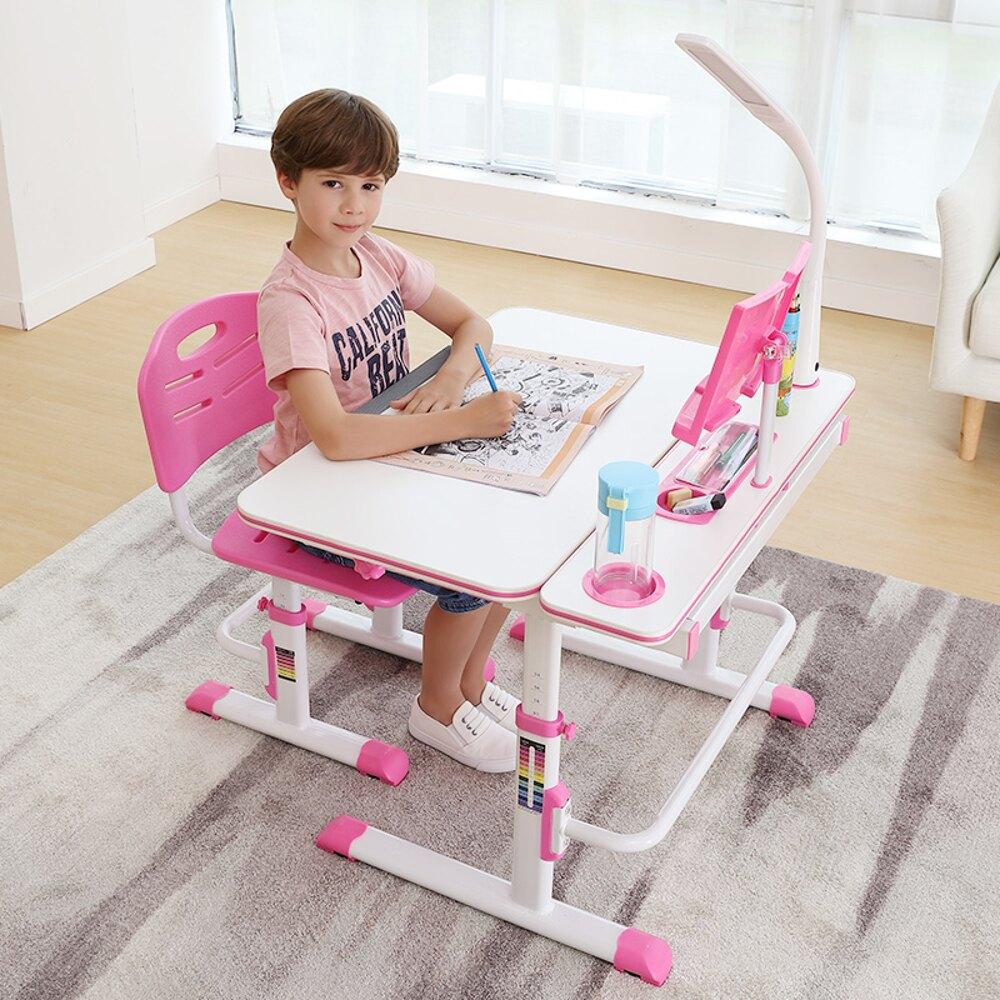 書桌 兒童學習桌多功能寫字桌台小學生作業書桌可升降小孩桌椅組合套裝JD 寶貝計畫