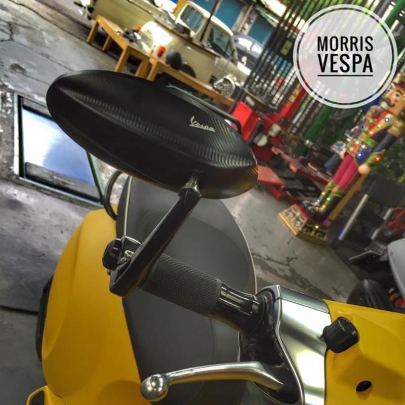 [ Morris Vespa ] Vespa 原廠手把鏡 菱形 藍鏡