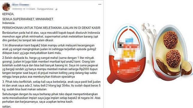 Viral Curhatan Ayah Minta Supermarket dan Minimarket Singkirkan Jajanan Coklat Ini dari Kasir, Mahal!