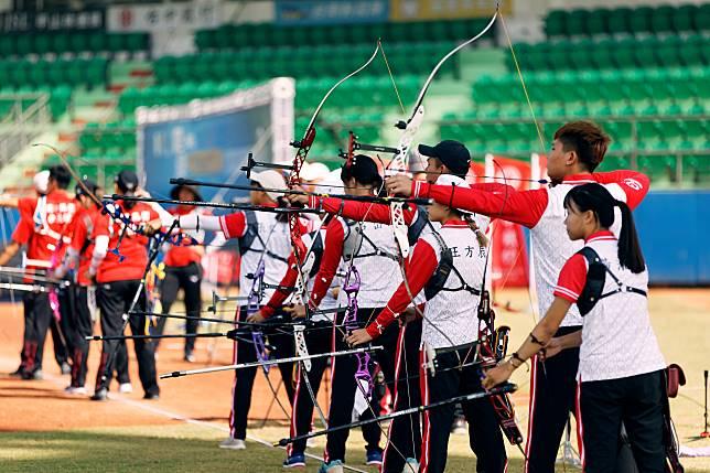 ▲中華企業射箭聯賽,台中銀行隊。(圖/台中銀行提供)