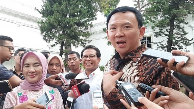 Komisaris Utama PT Pertamina (Persero) Basuki Tjahaja Purnama alias Ahok. (Suara.com/Ummi Saleh)