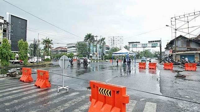 Penutupan jalan di Kota Medan