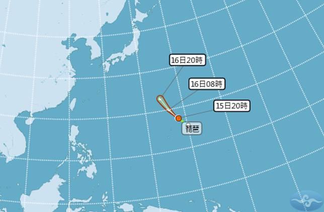 第16號颱風琵琶「快閃」生成 氣象局估最快明天消失