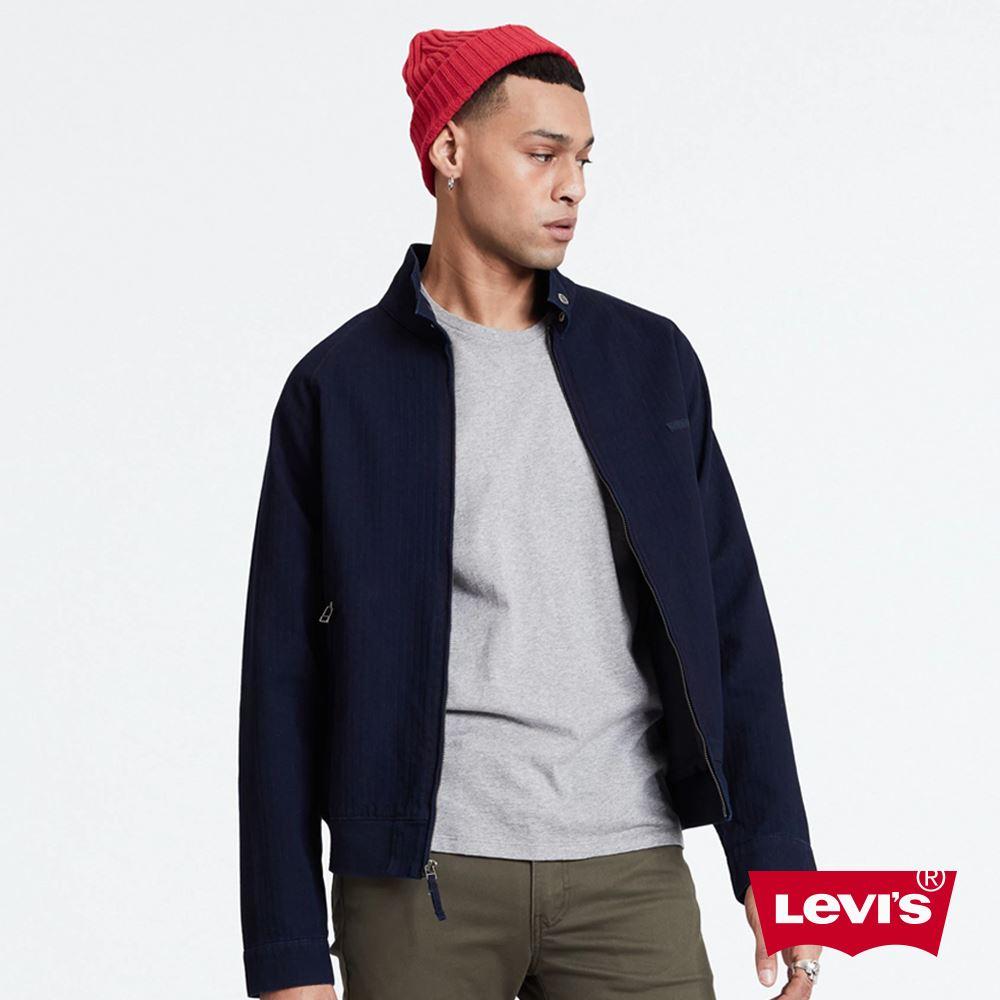 貨號:39978-0006levis 男款 復古小立領外套 / 藍染 / 小logo 布章