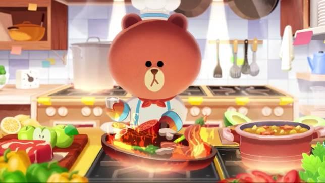 玩家要協助熊大烹調出美食,一圓他的主廚夢。