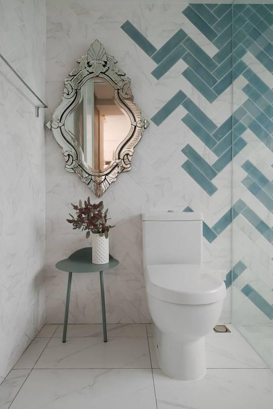 浴室魚骨紋磁磚