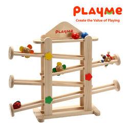 ◎小朋友最愛動態玩具!!|◎小玩具由上向下滾落、轉動、發出聲響。|◎主體配件-圓球2顆、小花2個、瓢蟲、彩虹摩天輪。商品名稱:轉轉花園種類:教具玩具適用年齡:3歲以上角色:沒有特殊角色特色:軌道,木製