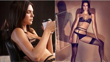 Kendall Jenner 為內衣界的勞斯萊斯寬衣解帶 火辣身材讓人凍!未!住!