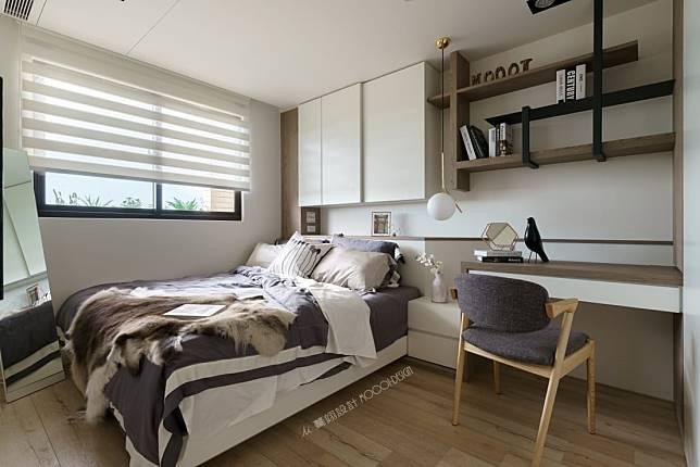 臥室設計實例九:木質北歐風