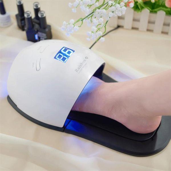 光療機 新款美甲機器燈手腳兩用48W智能LED拖鞋燈光療燈自動感應烘干機燈 - 歐美韓