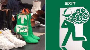 「逃生」 靴!Vetements 翻玩惡搞不斷!網友:穿了是會逃得比較快嗎?