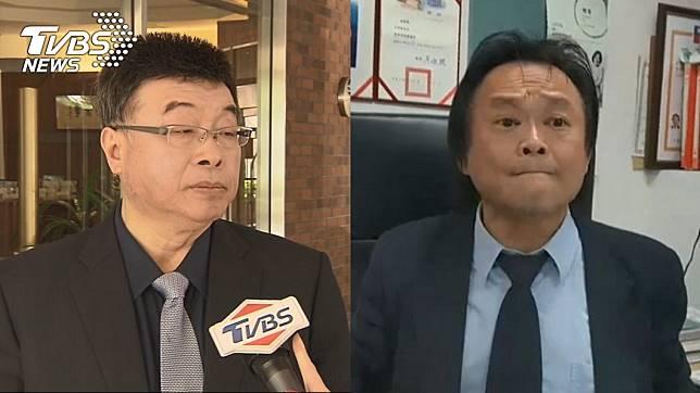 前立委邱毅(左)、台北市議員王世堅(右)。圖/TVBS資料畫面