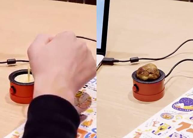 只插USB線,幾分鐘便可燒出章魚燒,一人「獨燒」沒惆悵。(互聯網)