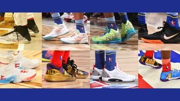 選手實著 / NBA 全明星賽戰靴點點名 球員對抗程度激烈 球鞋致敬情感深切