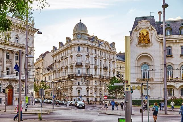 The Austrian capital Vienna. Two people in Austria have tested positive for the new coronavirus, authorities said Tuesday, marking the country's first cases after an outbreak in northern Italy.