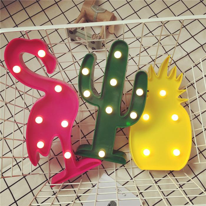 韓劇LED可愛造型小夜燈6款火烈鳥 14.4x30cm