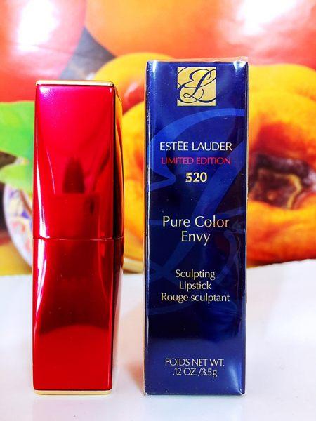 雅詩蘭黛 絕對慾望奢華潤唇膏 3.5g (#520 發財紅限定版) Estee Lauder 百貨公司專櫃正貨盒裝