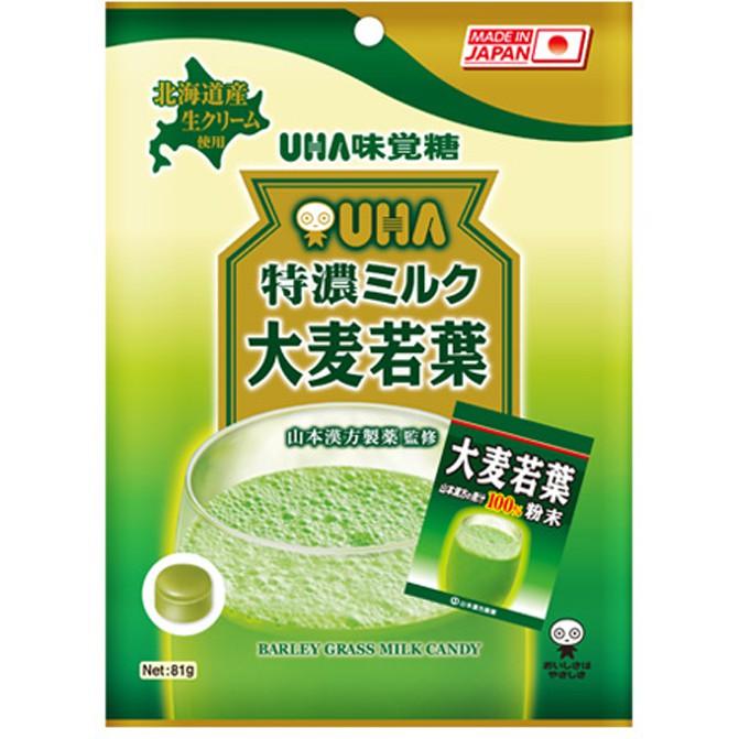 UHA 味覺糖 特濃牛奶糖(大麥若葉)81g【小三美日】團購/糖果 D041294