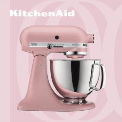 【KitchenAid】桌上型攪拌機(抬頭型)5Q(4.8L)霧玫瑰 3KSM150PSTDR