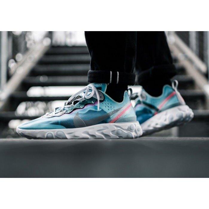 【日本海外代購】Nike React Element 87 Royal Tint 半透明 水藍 冰藍 男女 AQ1090-400