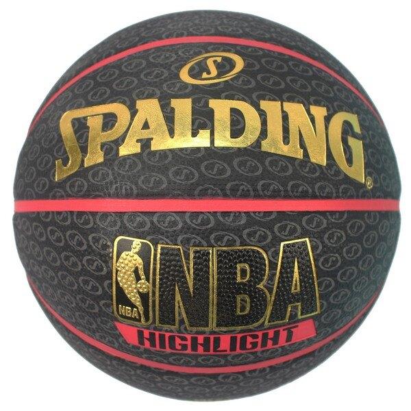 SPALDING 斯伯丁彩色籃球 73-901 (黑色燙金字)7號/一個入{特720} NBA籃球 室外內通用耐磨籃球-出清商品-銘
