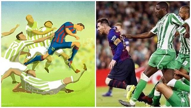 Wow! Penampilan Messi Ternyata Telah Diprediksi Lewat Lukisan 6 Tahun Silam