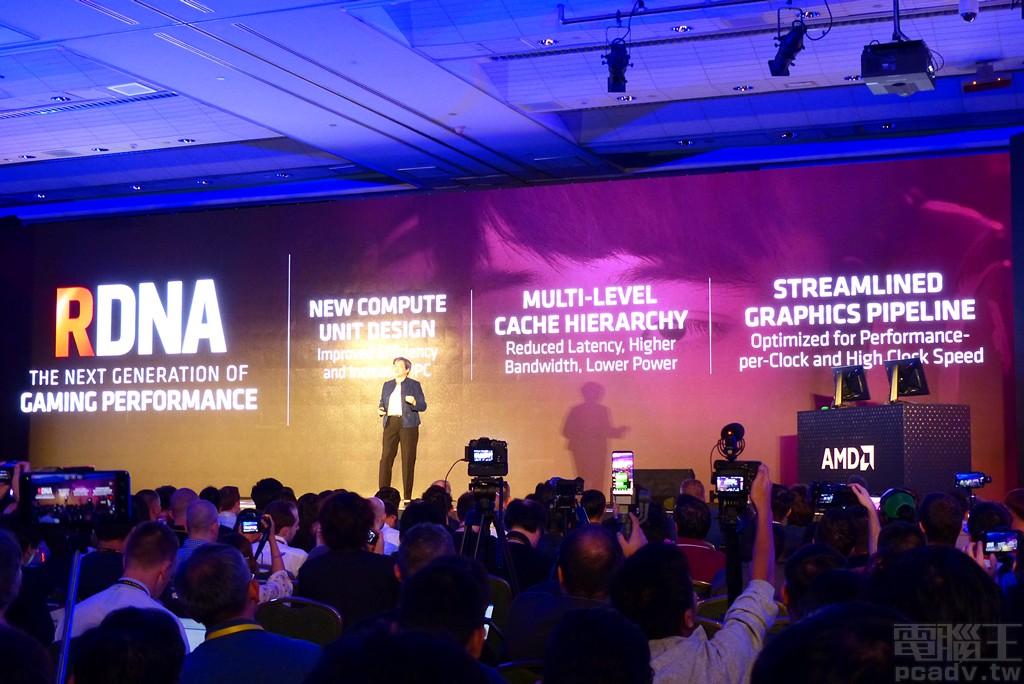 ▲ Navi RDNA 架構上的演進,已知包含新款運算單元設計、多層快取架構,以及將是世界首款支援 PCIe 4.0 的娛樂用顯示卡。