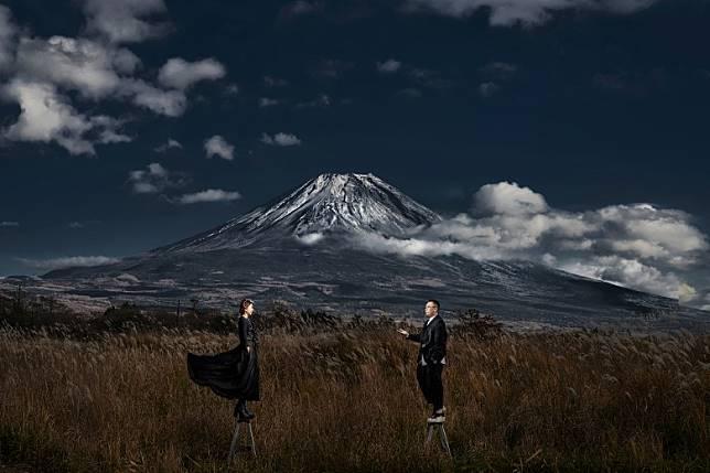 好彩天氣好,睇到冠雪嘅富士山!