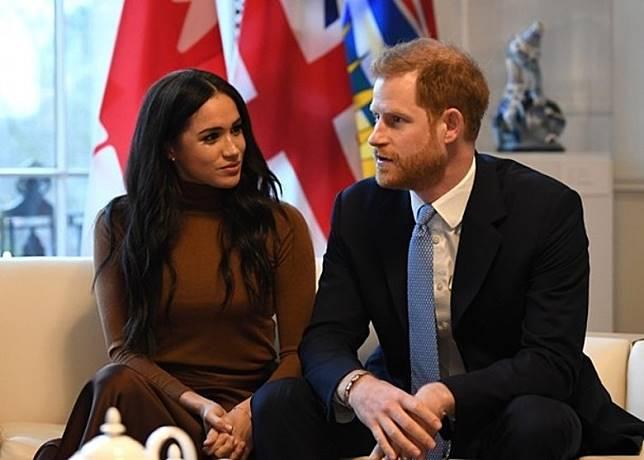 梅根(左)和哈利(右)將放棄殿下名銜。(Getty Images圖片)