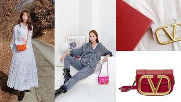 李聖經、Jessica狂曬同款!Valentino這款V字Logo包太有魅力,今年小包就挑這一款!