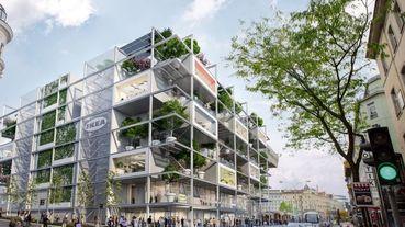 IKEA全新「綠建築」概念商場設計曝光!落地玻璃帷幕+頂樓空中花園,打造城市中的巨型書架